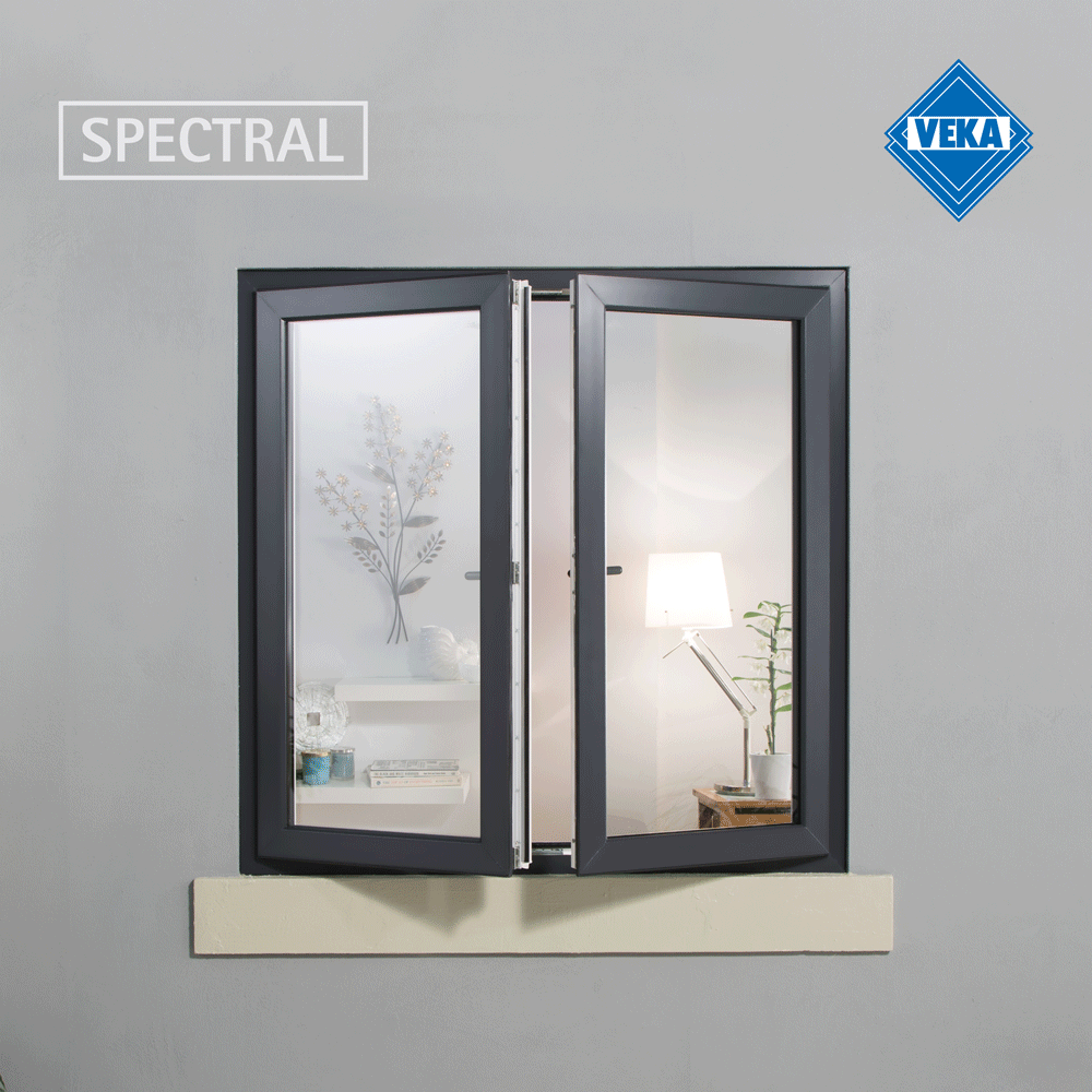 black casement french window