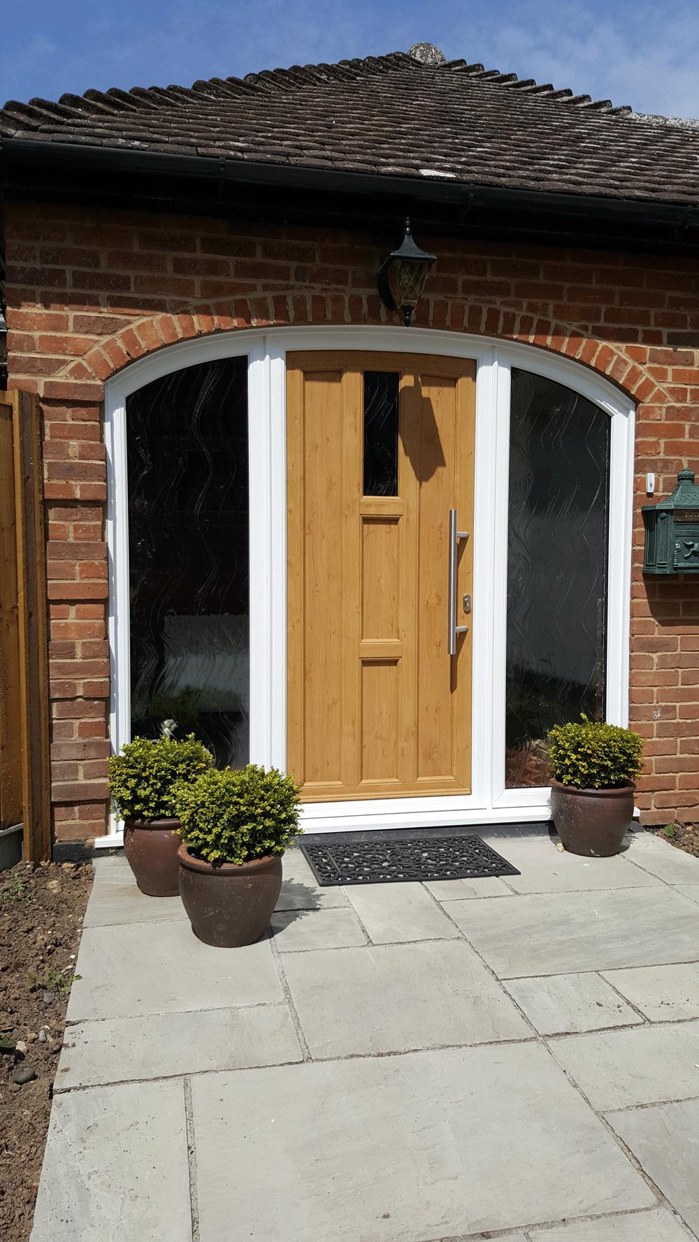 comp door golden oak